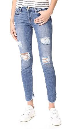3f6deb2c355fb FRAME Women s Le Skinny De Jeanne Jeans - Blue -  Amazon.co.uk  Clothing