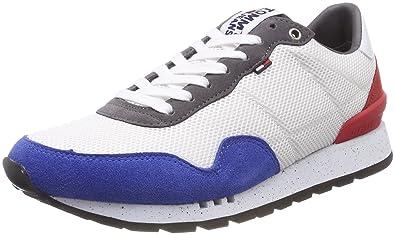 c7afc47823ed Hilfiger Denim Herren Tommy Jeans Lifestyle Sneaker, Weiß (RWB 020), 41 EU