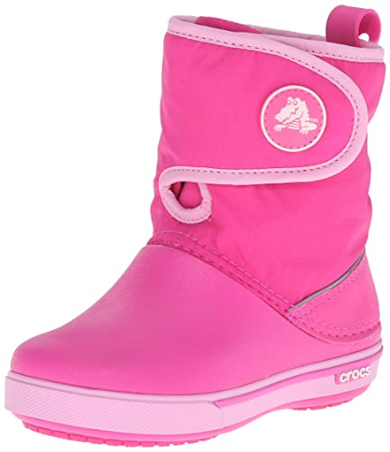 crocs LodgePoint Snow Boot Kids, Unisex - Kinder Schneestiefel, Pink (Candy Pink/Party Pink), 25/26 EU
