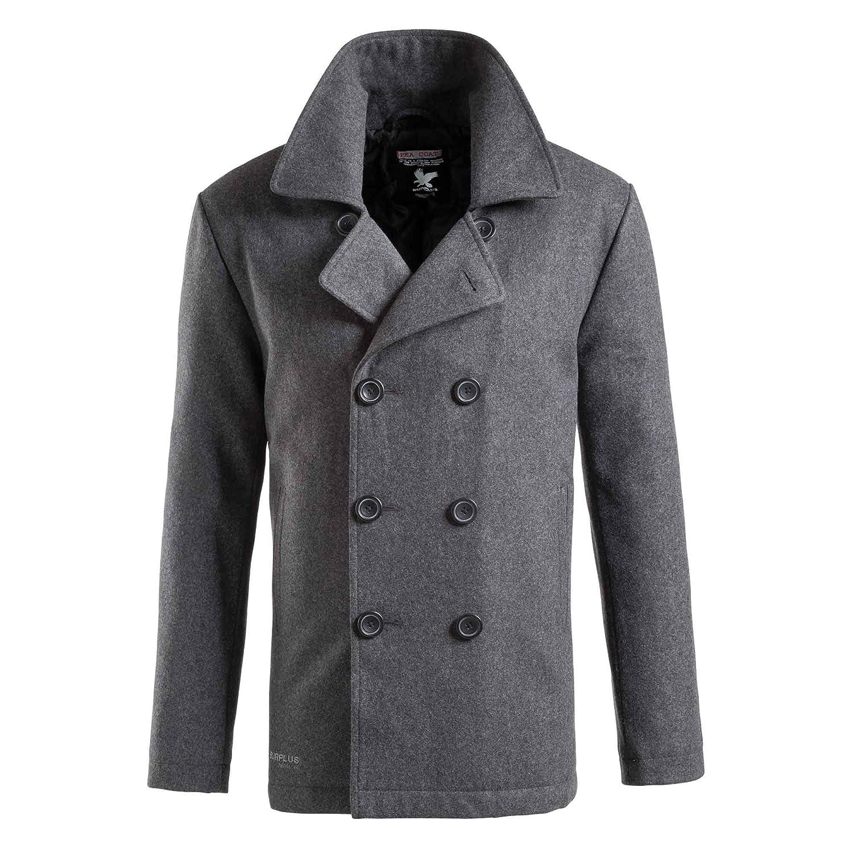 TROOPER Pea Coat Navy Caban Jacket - S, Anthracite