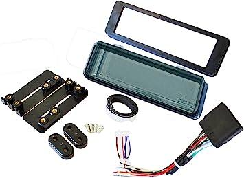 Kit de instalación estéreo de radio de montaje compatible con el kit de salpicadero HARLEY DAVIDSON FLHT con arnés y tinte ahumado.
