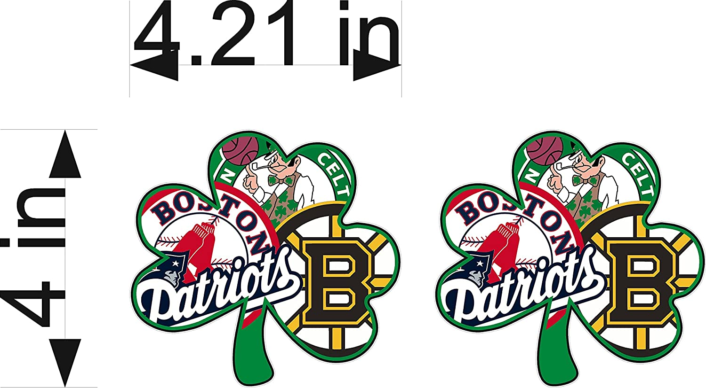 Amazon com boston fan sport flag logo 4x4 sticker decal vinyl bruins patriots celtics red sox automotive