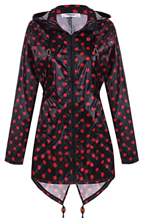 63adeda57 Amazon.com  Meaneor Women s Waterproof Raincoat Outdoor Hooded Rain ...