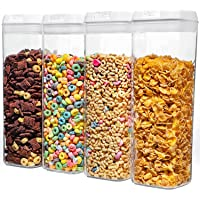 NUMYTON Airtight Food Storage Container with Easy Lock, Air-Tight Dry& Fresh Storage Set,BPA-Free Clear Durable Plastic…
