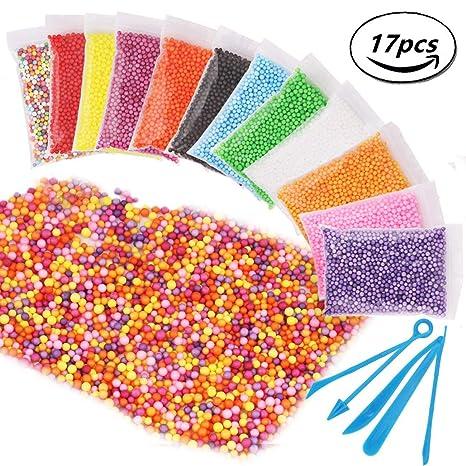 Candygirl - Juego de bolas de espuma de poliestireno para hacer bolas de espuma de 17 piezas, ...
