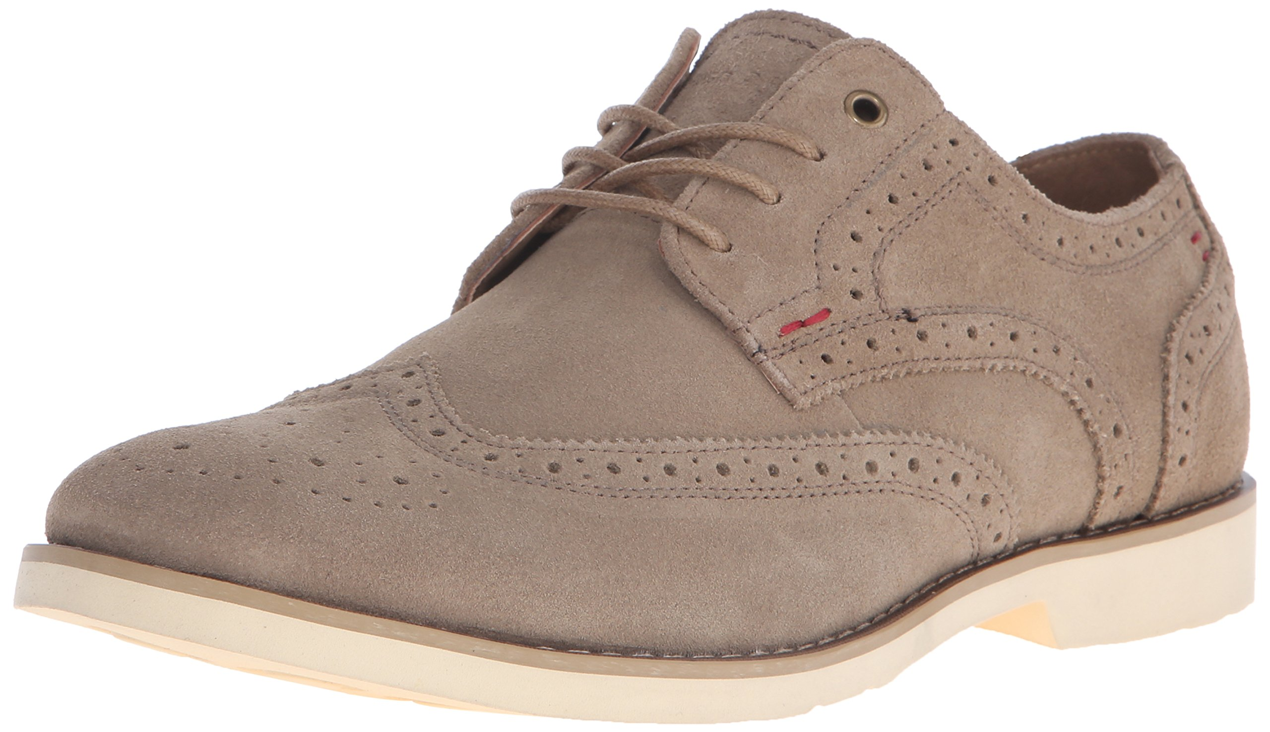 Hush Puppies Men's Fowler EZ Dress Oxford, Taupe Suede, 10.5 W US