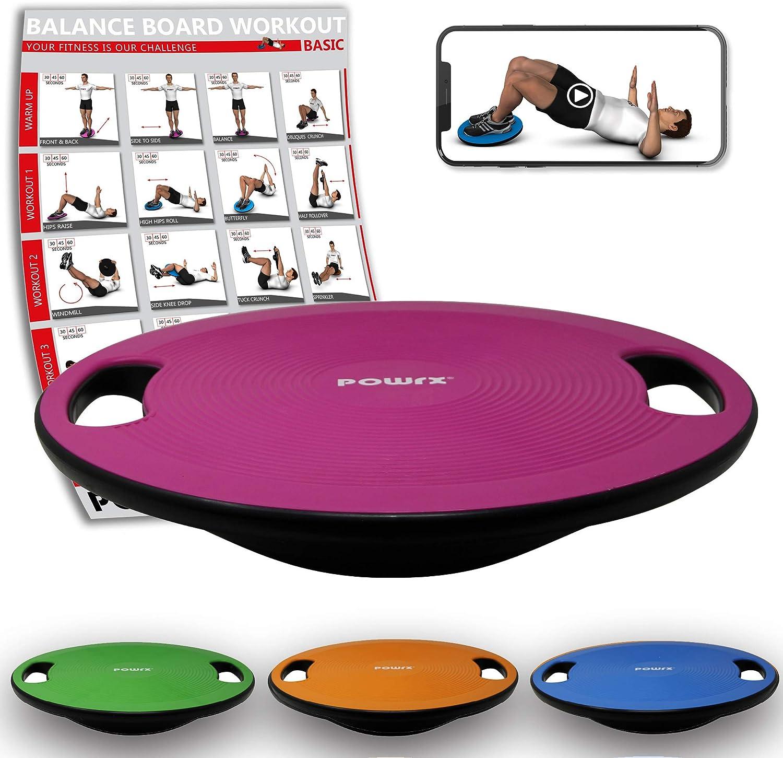 Unibest Balance Board Kreisel Wackelbrett Therapiekreisel mit Griffen mit Durchmesser 40cm