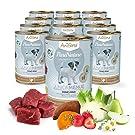 AniForte ® PureNature Junior-Menue Feines Rind mit Kartoffeln 12x400g Nass-Futter, Naturprodukt für Hunde, Welpen und Junghunde