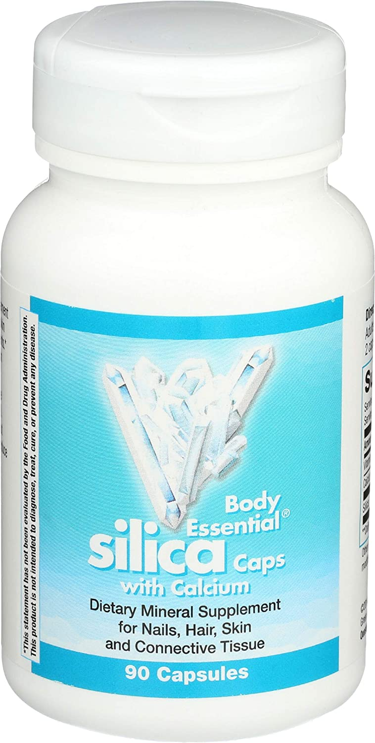 Body Essential Silica with Calcium Capsules; Nails Hair Skin & Connective Tissue 90 Count (Nature's Way Brands)
