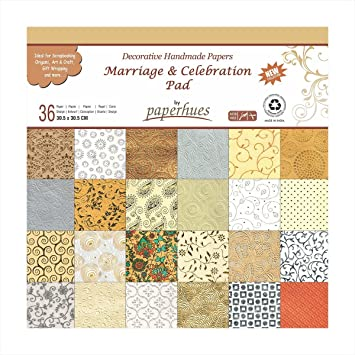 paperhues wedding scrapbook paper 12x12 pad 36 sheets celebration pad decorative specialty