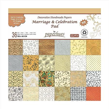 Paperhues Wedding Scrapbook Paper 30x30 Cm Pad 36 Sheets Celebration Decorative Specialty