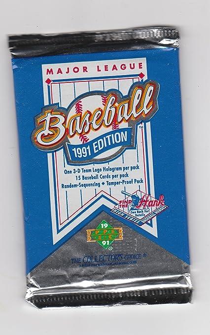 1991 Major League Upper Deck Baseball Cards Unopened Pack