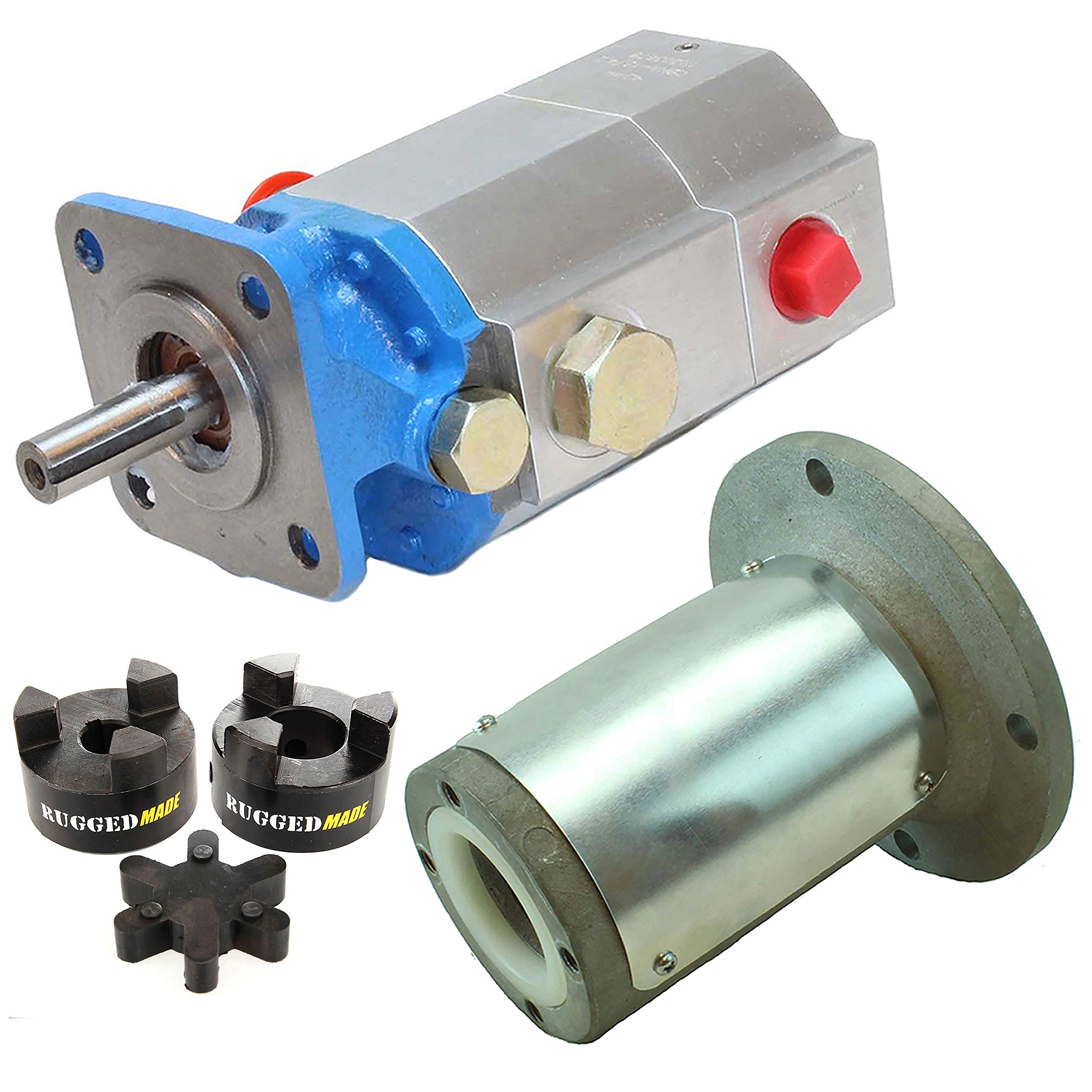 RuggedMade Hydraulic Log Splitter Build Kit - 11 GPM Pump, Engine Mounting Bracket, Coupler for 3/4'' Engine Shaft