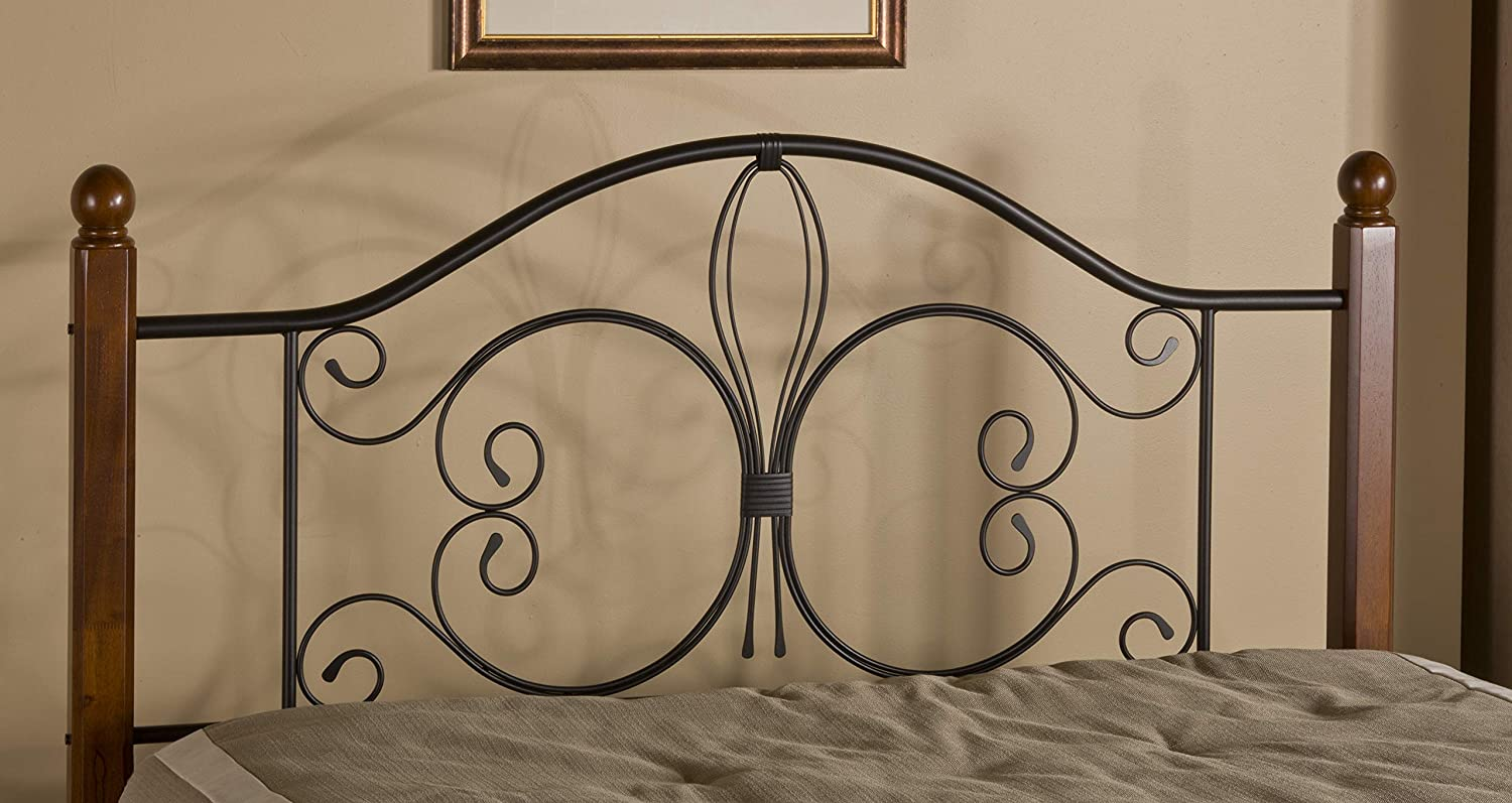 Hillsdale Furniture Hillsdale Milwaukee Post Without Bed Frame King Headboard, Textured Black