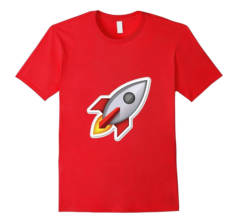 Rocket Ship Emoji T-Shirt Spaceship Outer Space Stars-TH