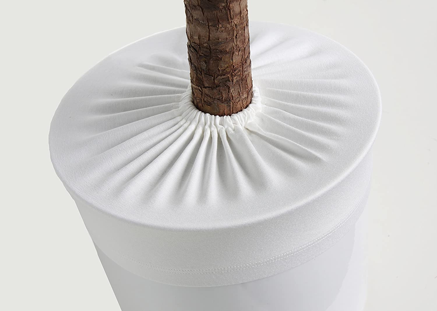 Plant pot soil guard (diameter: 26-28 cm, natural white) vamani