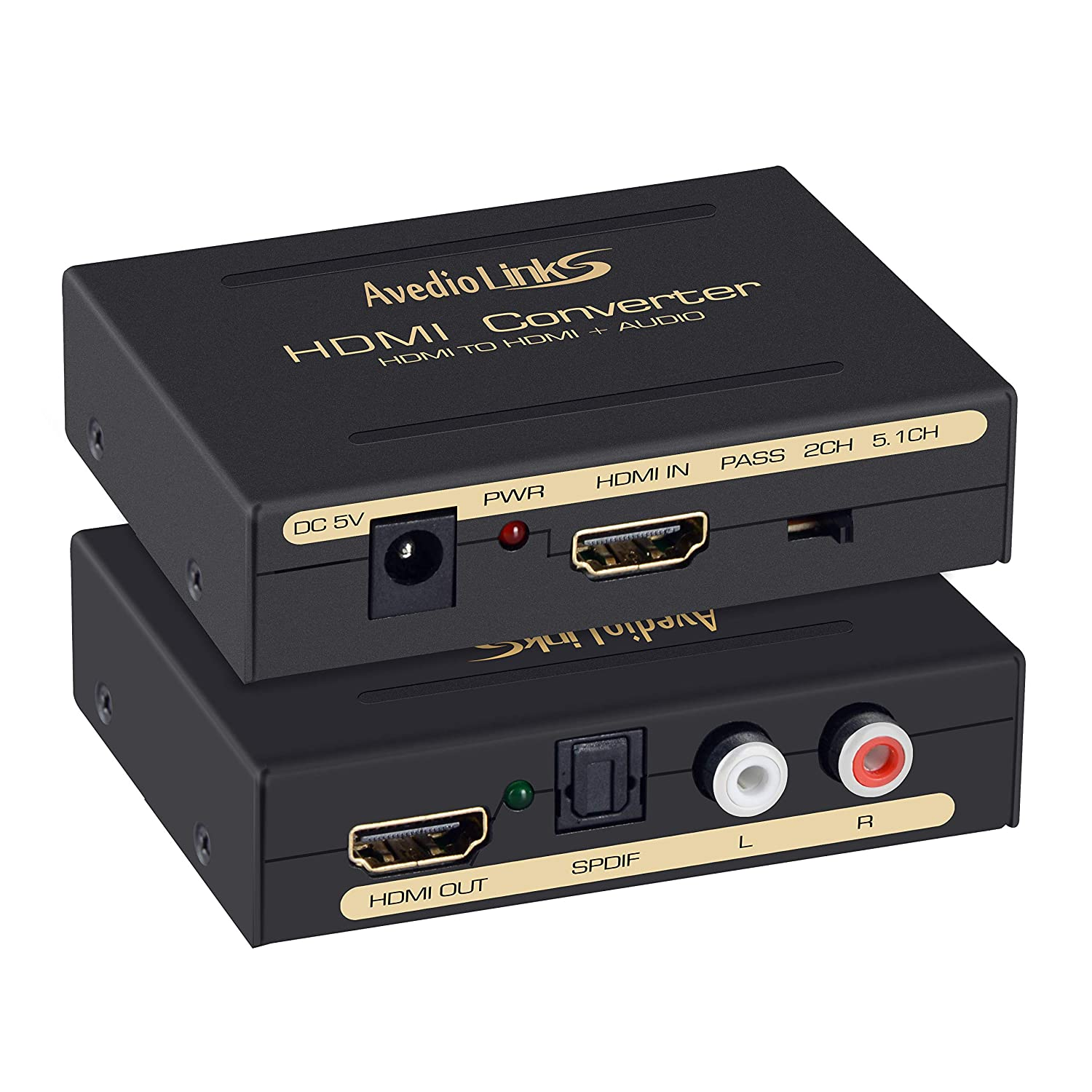 HDMI Input,HDMI+ Audio Output SPDIF AGPtek/® HDMI to HDMI RCA L//R Audio Extractor Converter