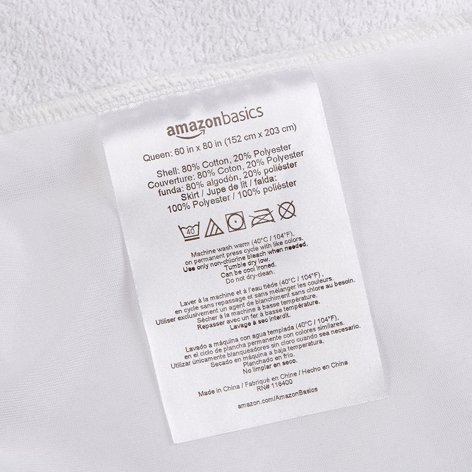 Twin Basics Hypoallergenic Waterproof Fitted Mattress Protector Cover