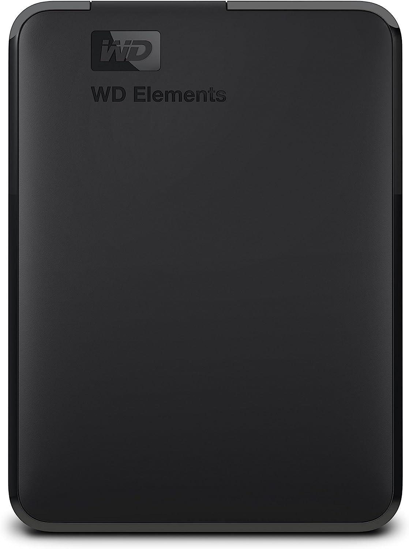 WD 2TB Elements Portable External Hard Drive - USB 3.0 - WDBU6Y0020BBK-WESN,Black