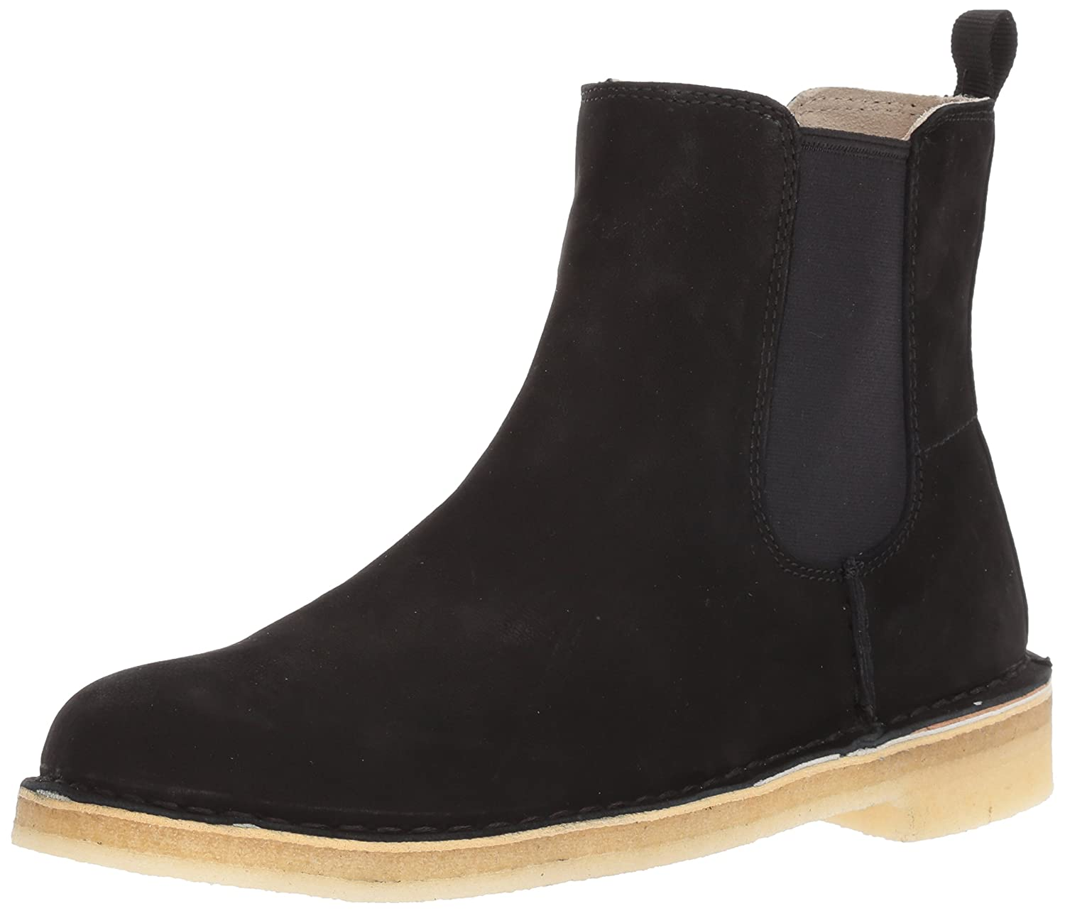 CLARKS Women's Desert Peak. Chelsea Boot B01MQVEX8G 6 B(M) US|Beeswax Black Leather