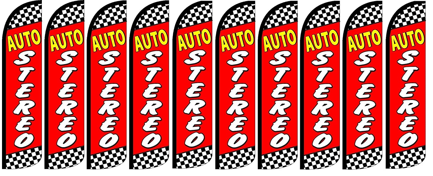 Auto Stereo King Windless Flag Pack of 10 Hardware Not Included