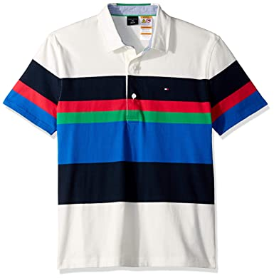 e3426f3d6f7 Image Unavailable. TOMMY HILFIGER Mens Adaptive Rugby Shirt with Magnetic  Buttons ...