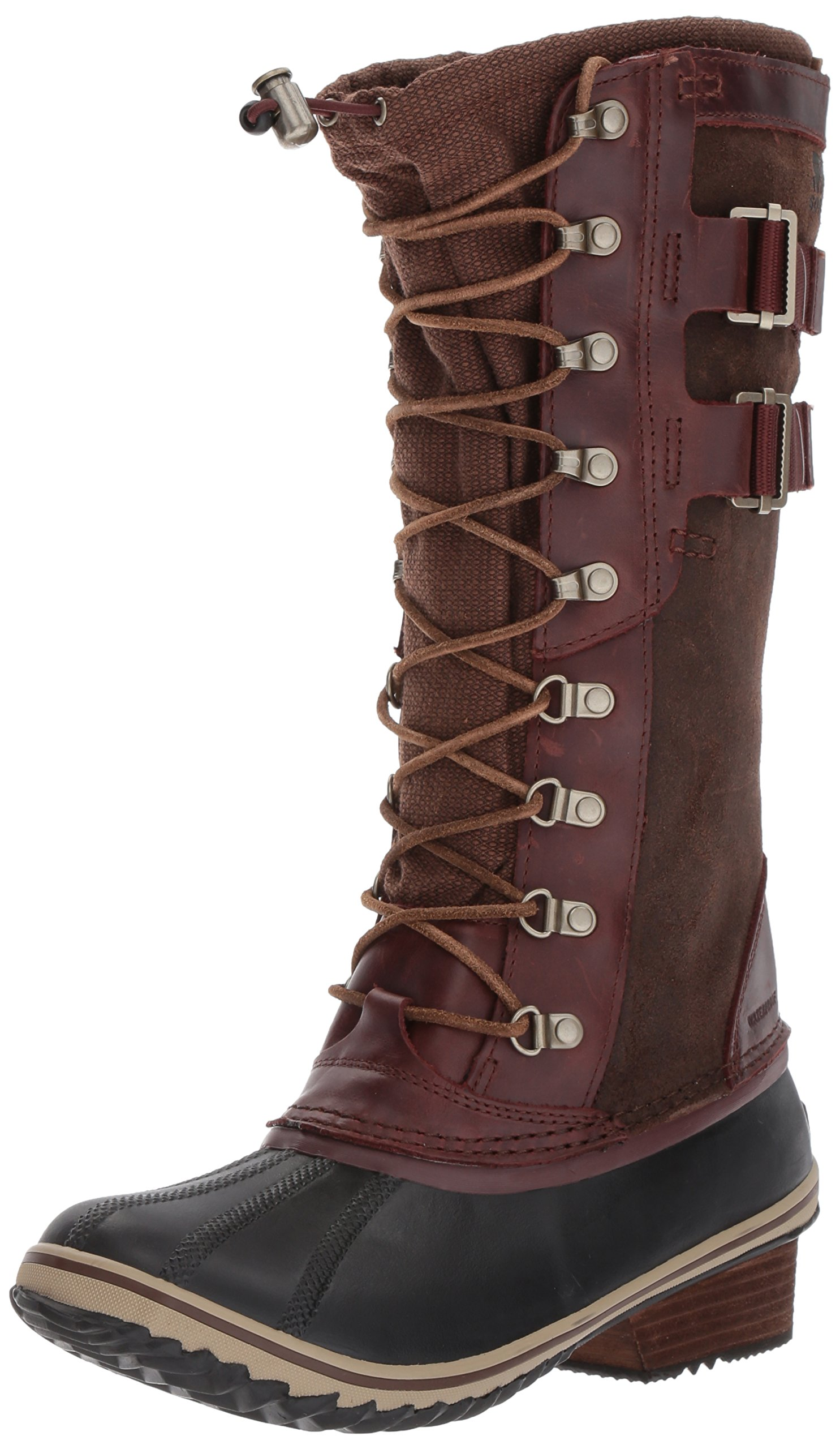 Sorel Women's Conquest Carly II Snow Boot, Redwood, Tobacco, 8.5 B US