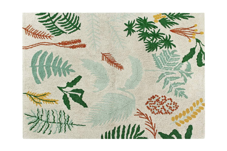 Lorena Canals Botanic Plants Washable Rug, Cotton, Multi-Colour, 140 x 200 x 30 cm C-BOTANIC