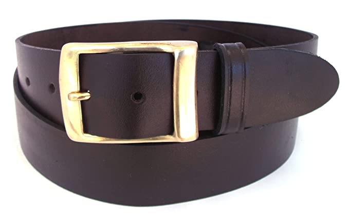 de4eb4c49559 Brown Hide Leather belt for men and women - 38mm wide for jeans-made from