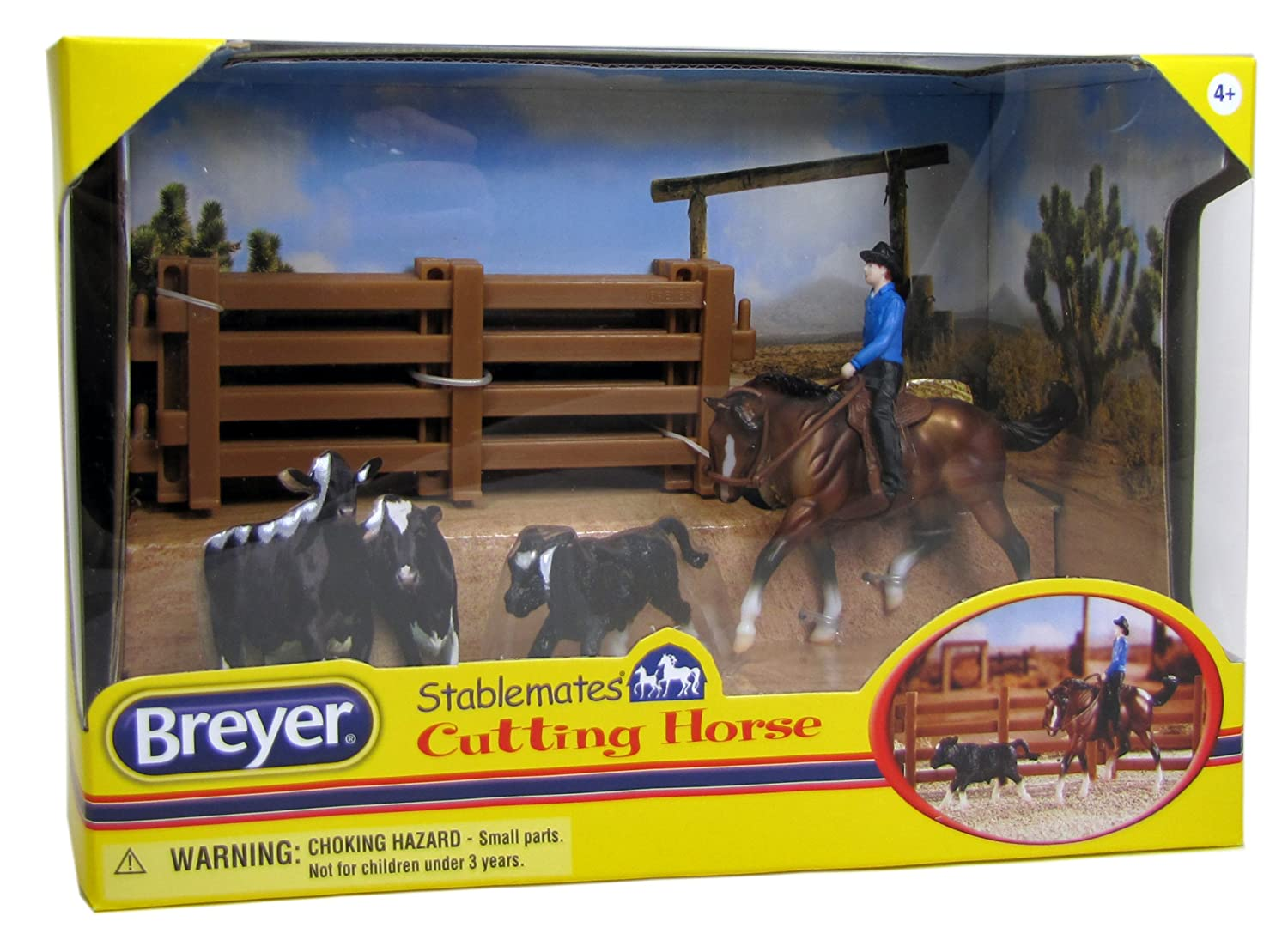 Breyer 1 32 Scale Stablemates Cutting Horse Play Set