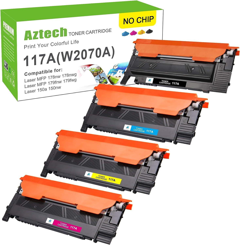 Kein Chip Aztech Kompatibel Hp 117a W2070a Toner Replacement Für Hp W2071a W2072a W2073a Für Hp Mfp 178nwg 179fwg Hp Color Laser Mfp 179fwg 178nwg Toner Hp Mfp 178nw 179fnw Toner Hp