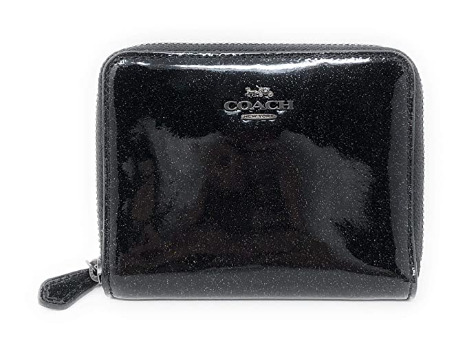 a5a9dc9faa5b Image Unavailable. Image not available for. Colour  COACH Glitter Patent  Leather SMALL ZIP AROUND WALLET