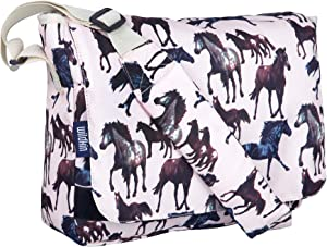 Wildkin Kids Messenger Bag for Boys and Girls, Perfect Size for Packing Items for School or Travel, 600 Denier Polyester Fabric Messenger Bags Measures 13 x 10 x 4 Inches, BPA-free (Horse Dreams)