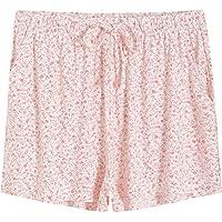 Latuza Women's Bamboo Viscose Floral Boxer Pajama Shorts