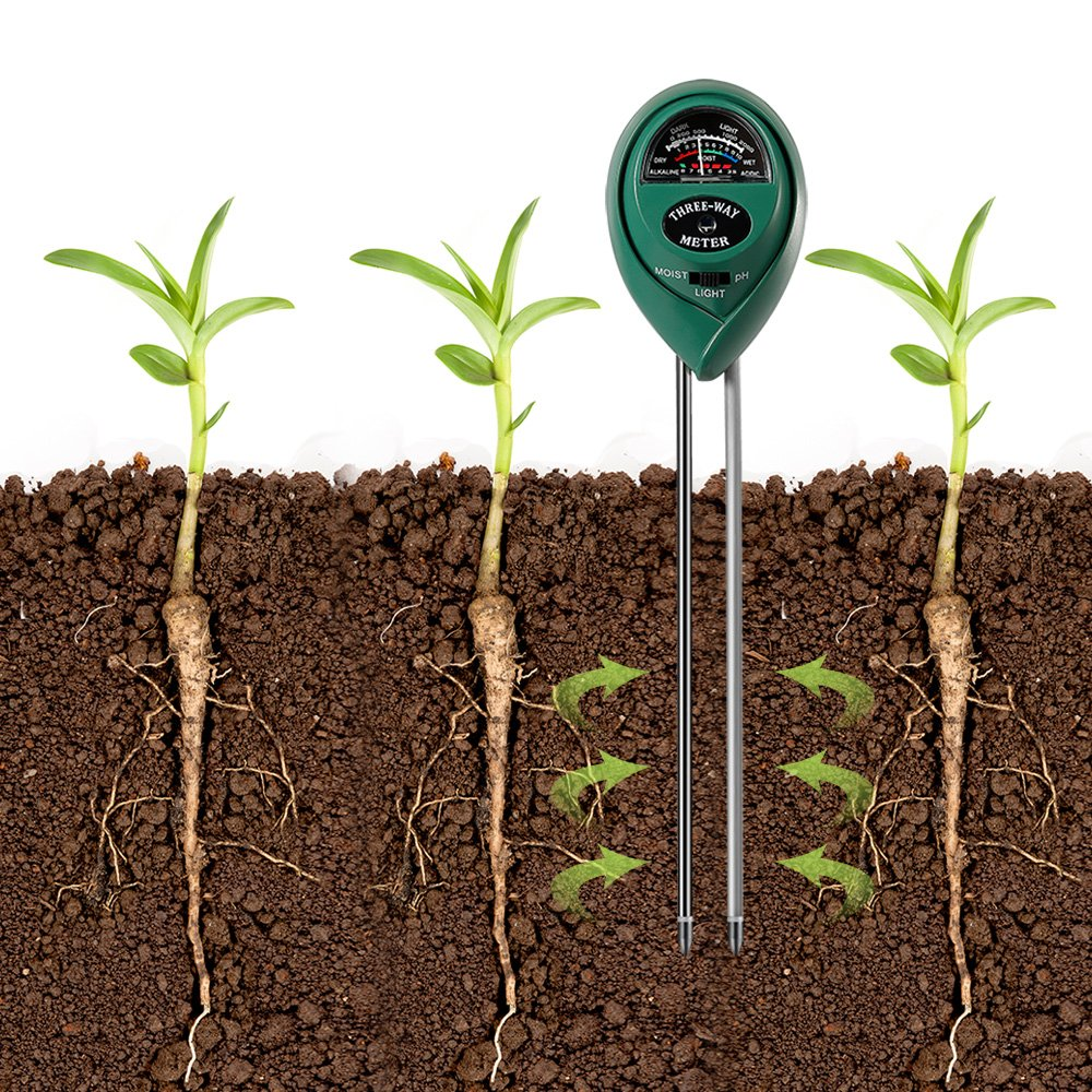 3 in 1 Soil Tester for PH, Light & Moisture, Plant Test Kit for Home and Garden, Farm, Lawn, Indoor & Outdoor, Easy Read Indicator (No Battery Needed) by FARINIDO (Image #5)