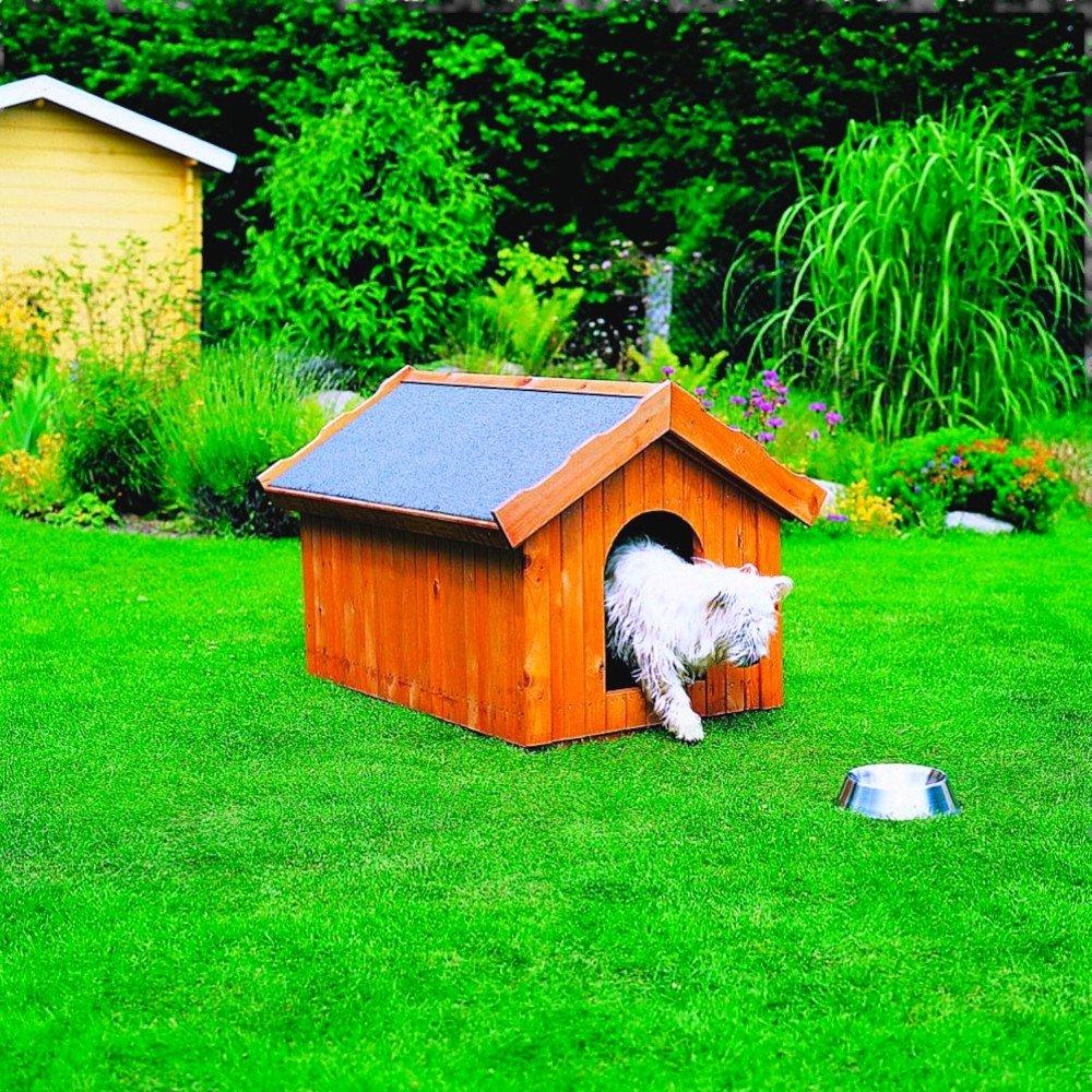 Hundehütte in 3 Größen Kiefernholz imprägniert 30 mm wärmeisoliert, Ausführung:klein