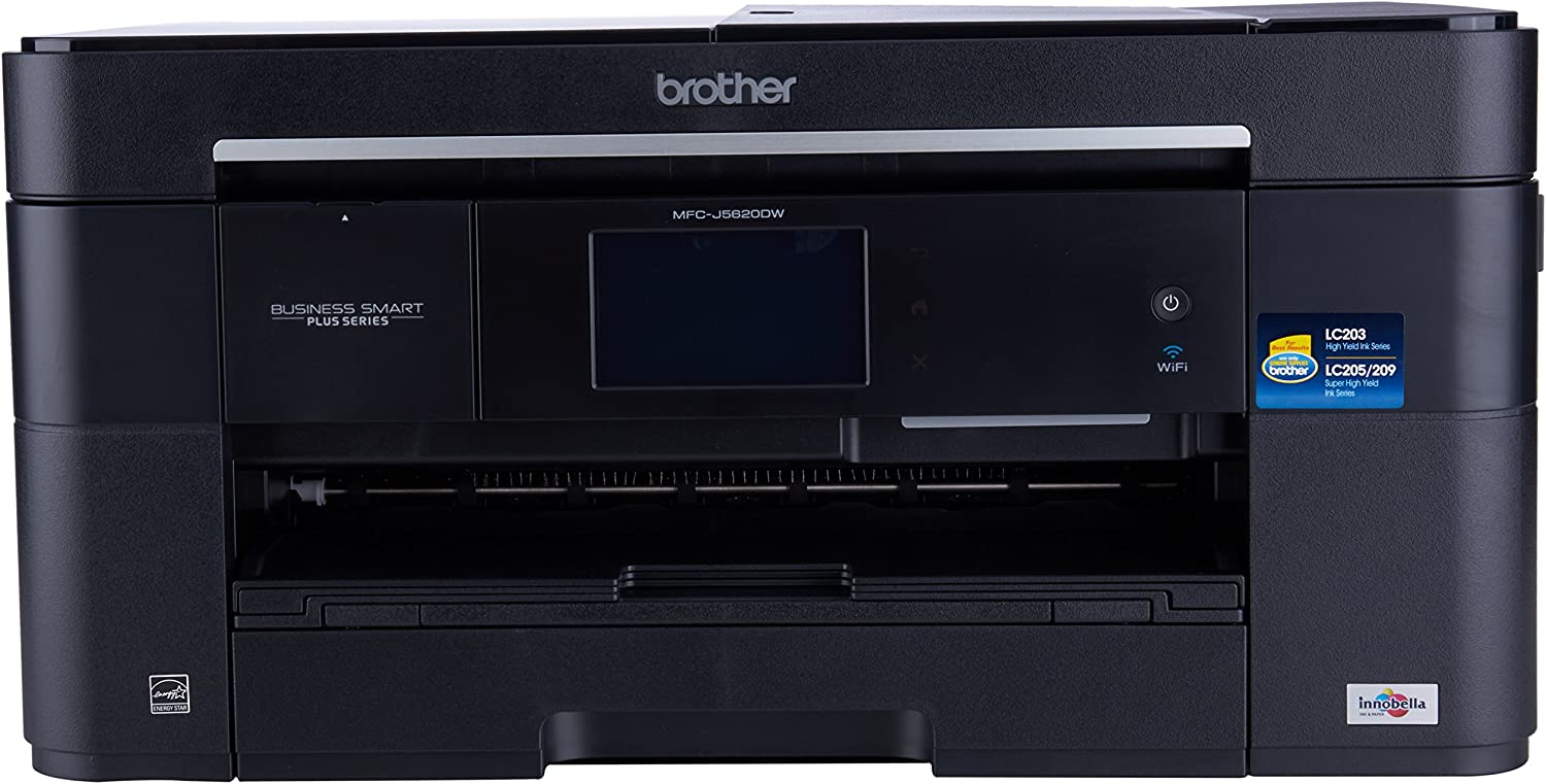Brother Printer MFCJ5620DW Wireless color Photo Printer with Scanner, 3.7, Amazon Dash Replenishment Ready