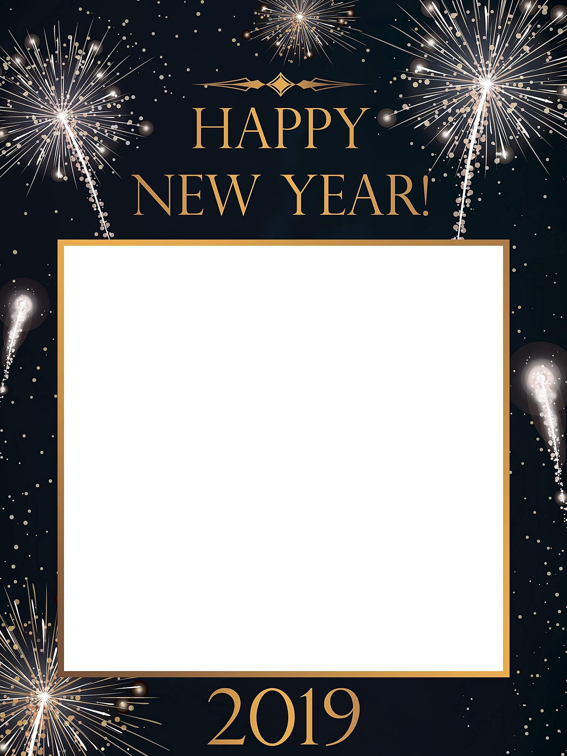 Large Custom Happy New Year Photo Booth Frame New Year Eve Holiday