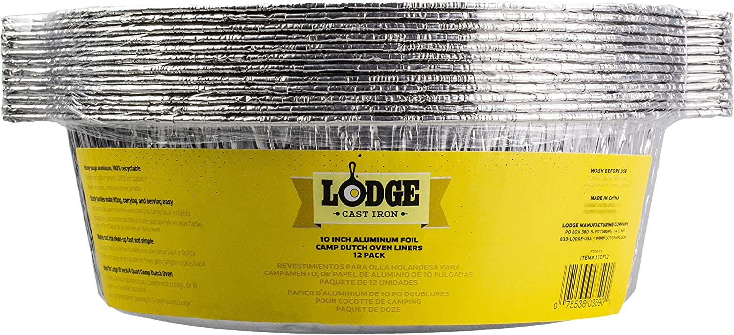 Lodge A10F12 Dutch Oven Liner, 10 inch, Silver