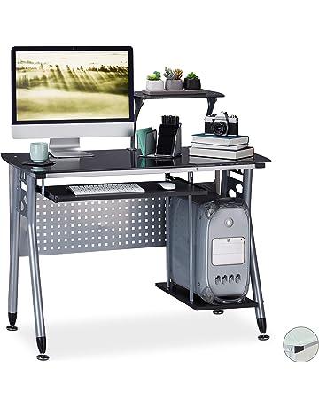 WOLTU TSG27hei Scrivania per Computer con 2 Cassetti Tavolo da Studio Ufficio in Metallo Legno