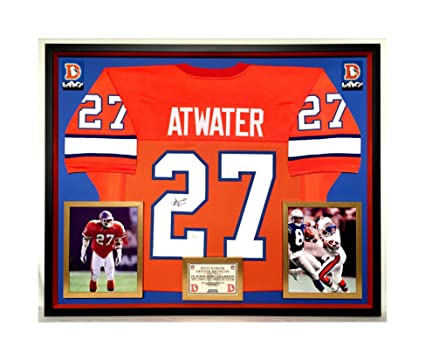 100% authentic 8c09c 7c226 Premium Framed Steve Atwater Autographed/Signed Denver ...