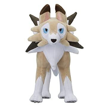 Pokemon Center original muñeca de la felpa Peluche Lycanroc Forme Diurne (Pokemon Sun Moon)