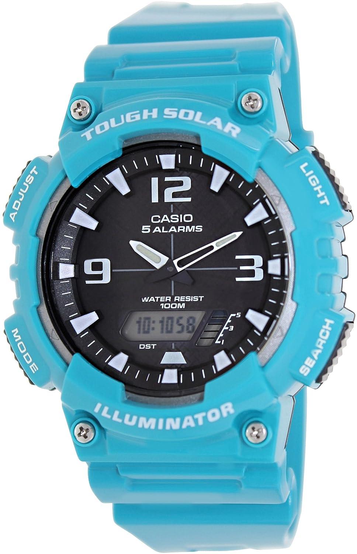 Casio AQ-S810WC-3AV Men s Teal Solar Analog Digital World Time Sports Watch