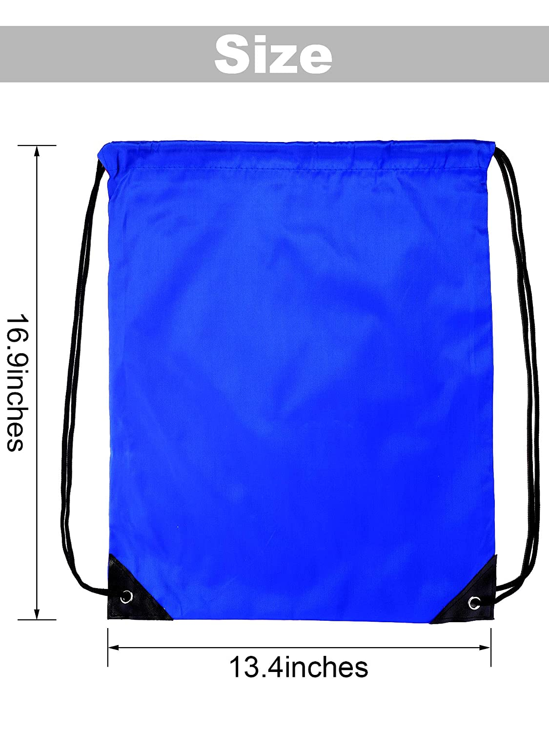 Shappy 20 Pieces Drawstring Bag Backpack Sport Bag Cinch Tote Travel Rucksack for Traveling and Storage Fluorescent Green