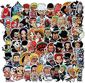 One Piece Anime Sticker Pack of 60 Stickers Aesthetic Anime Stickers for Laptops Hydro Flasks Water Bottles Luggage
