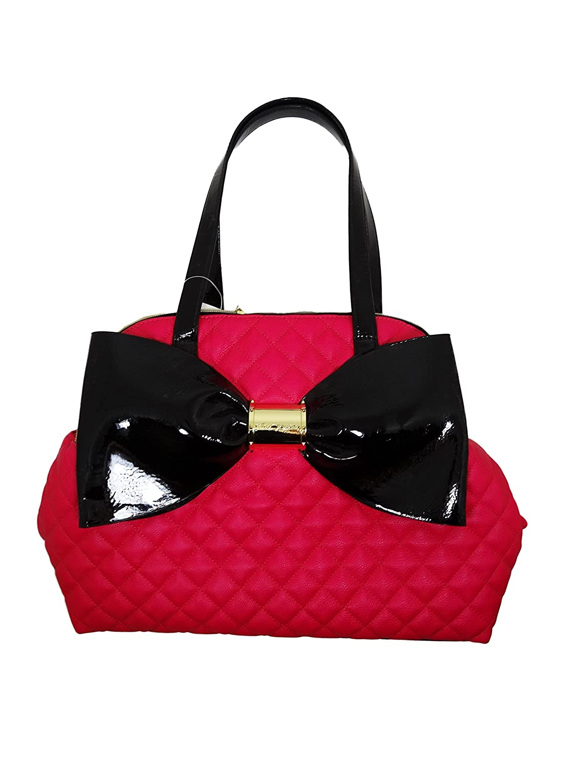 Betsey Johnson Bow Nanza Triple Compartment Handbag Purse