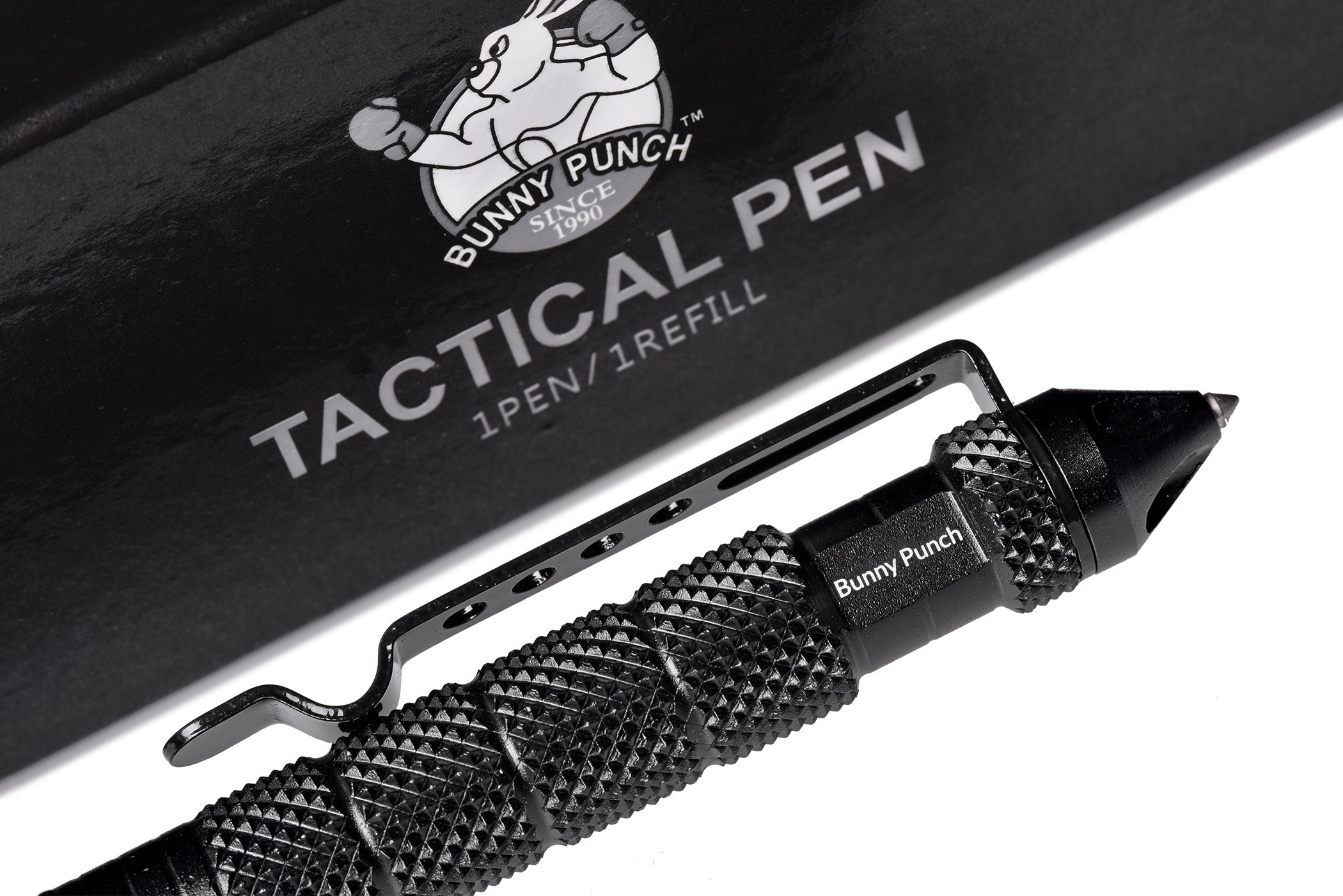 Bunny Punch Best Tactical Pen for Self-Defense with Tungsten Glass Breaker Made of Ballistic Aluminum Survival and Camping