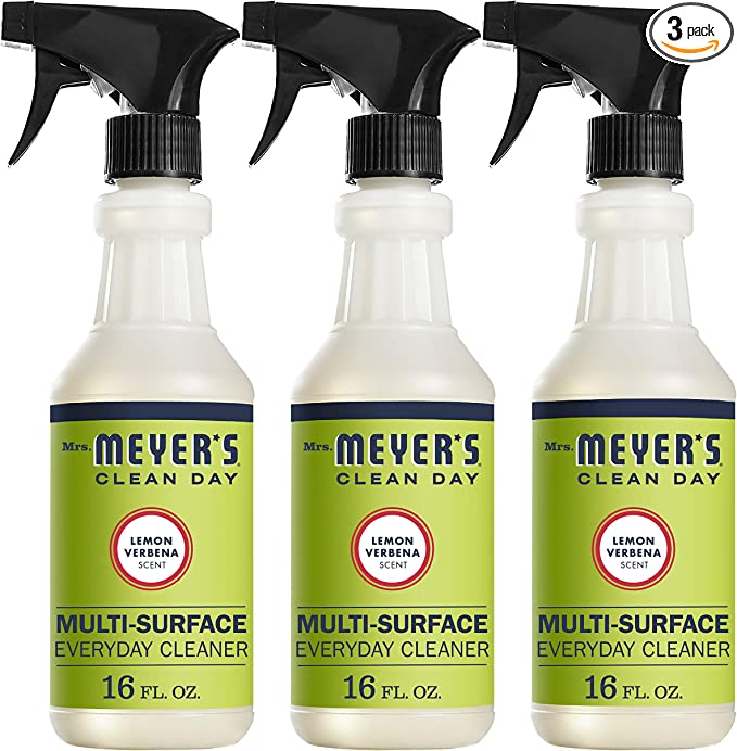 Mrs. Meyer's Clean Day Multi-Surface Everyday Cleaner, Lemon Verbena, 16 fl oz, 3 ct best natural kitchen cleaning products