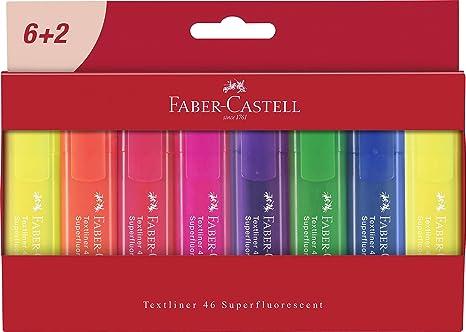 Faber-Castell 254667, Textliner 1546 - Paquete de 8 subrayadores: Amazon.es: Oficina y papelería
