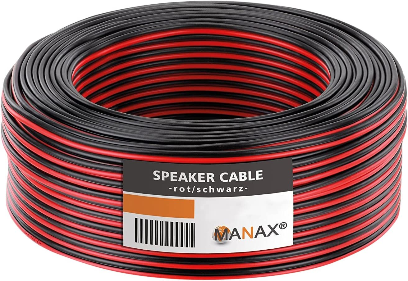 Manax Loudspeaker Cable 2 x 0.75 mm2 CCA Box Cable//Audio Cable